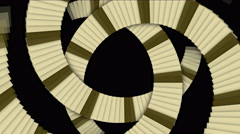 4k Spiral ladder stair road tunnel background,stripe block,square card particle Stock Footage