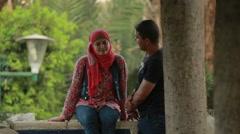 Two Arabic People Talking Stock Footage