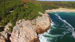 Coastline of Maine in foliage season Stock Footage