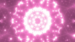 Abstract Pink Background Fractal Sun. Stock Footage