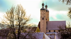 Winter in a bavarian town Stock Footage