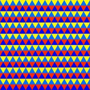 Abstract colorful geometric seamless pattern with triangles - stock illustration
