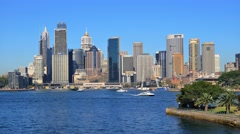 Sydney Harbour and CBD in 4k Stock Footage