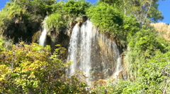 Paradise Waterfall Beautiful and Tourist Attraction in The Forest Natural - stock footage