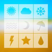 Stock Illustration of Vector weather icon set