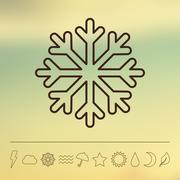 Vector weather icon set Stock Illustration