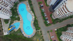 Pools near edifices of residential complex My Marine Residence Stock Footage