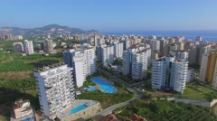 Stock Video Footage of Cityscape with My Marine Residence hotel at summer