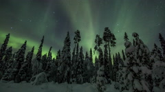 Aurora Borealis (Northern Lights) above lappland Stock Footage