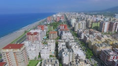 Cityscape with highway D-400 near sea beach at summer Stock Footage