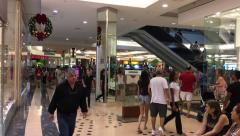 Crowded Shopping Mall in Sao Paulo, Brazil - stock footage