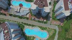 Residential complex My Marine Residence in coastal city at summer Stock Footage