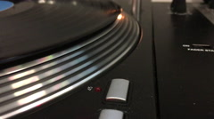 Turntable spinning music record 4k Stock Footage