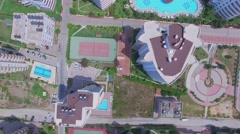 Stock Video Footage of Residential complex My Marine Residence with two large pools