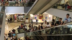 Crowded Shopping Mall in Sao Paulo, Brazil Stock Footage