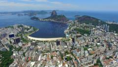 Aerial View of Sugarloaf Mountain and Rio de Janeiro Cityscape, Brazil - stock footage