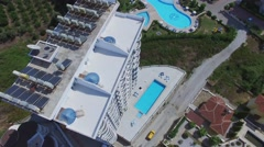 Stock Video Footage of Ulker 3 residence near My Marine Residence hotel at summer