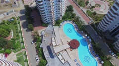 My Marine Residence in city near mountains at summer sunny day Stock Footage