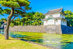 Imperial palace in tokyo japan - stock photo