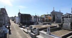 New Orleans Cemetery Tombs - stock footage