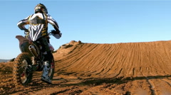 Man riding a motor cross bike Stock Footage