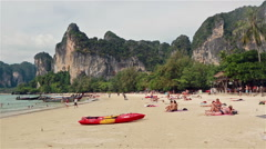 Tourists in Krabi, Thailand Stock Footage