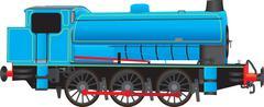 Industrial Steam Locomotive Stock Illustration