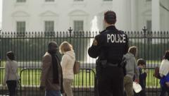 Secret Service Agent at the White House Slow Motion  Stock Footage