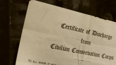 Civilian Conservation Corps, Discharge - stock footage