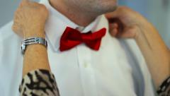 Red Bow Tie Stock Footage