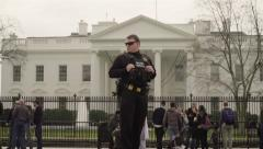 Secret Service at the White House Slow Motion  Stock Footage