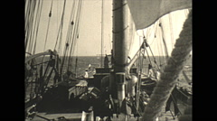 Vintage 16mm film, 1934, Sailboat, Uvera yacht sailing #3 Stock Footage