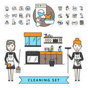 Cleaning Design Concept - stock illustration