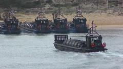 A Portuguese amphibious assault Landing Craft conducted coordinated assault Stock Footage