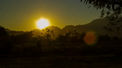 Mountaint landscape sunset timelapse Stock Footage