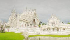 Wat Rong Khun temple timelapse Stock Footage