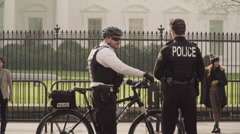 Secret Service Agents at the White House, Slow Motion Stock Footage