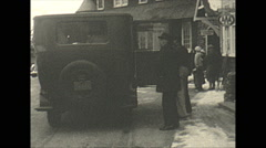 Vintage 16mm film, 1934, Winter life, Pocono manor inn b-roll Stock Footage