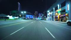4K Driving Plates LA Downtown Figueroa St Front View 01 North bound at Pico Blvd Stock Footage