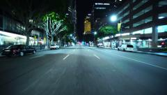 4K Driving Plates LA Downtown Figueroa St Front View 03 North bound 9th to 7th Stock Footage