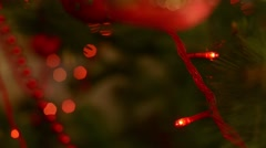 Christmas Decorations Light-emitting diode On The Christmas Tree - stock footage