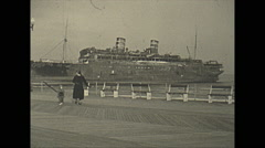 Vintage 16mm film, 1934, Winter life, Morro Castle disaster weeks later... Stock Footage