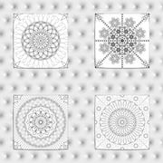 Set of 4 Abstract patterns. Stock Illustration
