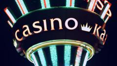 Neon casino sign .   - stock footage