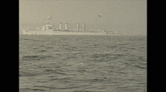 Vintage 16mm film, 1934, Winter life, NYC navy ships Clemson class #2 Stock Footage