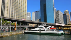 Circular Quay Ferry Wharf, Sydney in 4k Stock Footage