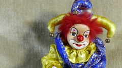 4K Scary Clown Doll 2 Stock Footage
