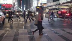 pedestrians crossing street at penn station new york. Shot on Red Epic - stock footage