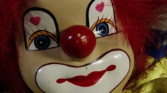 Stock Video Footage of 4K Scary Clown Doll 6 closeup
