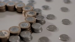 Brazilian Coins Stock Footage
